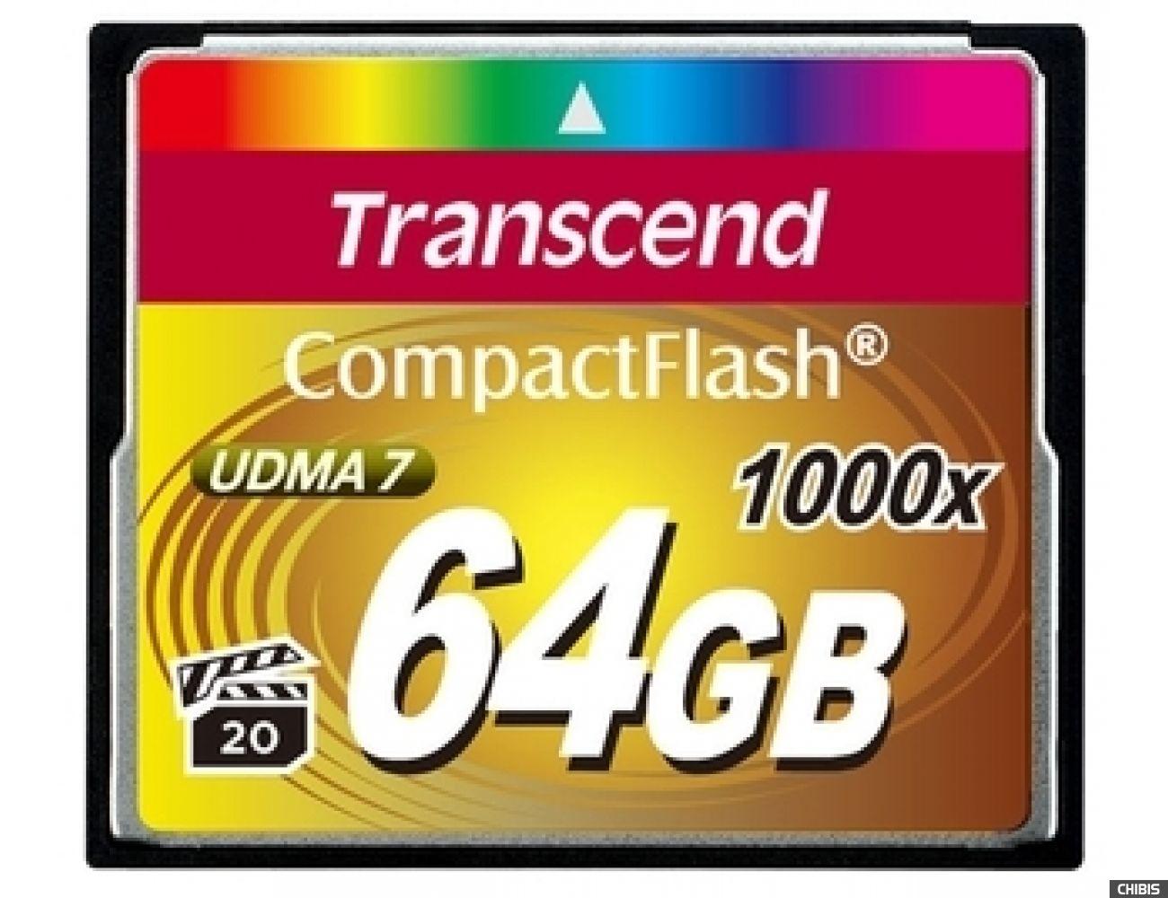 Карта памяти Transcend Compact Flash 1000x 64Gb