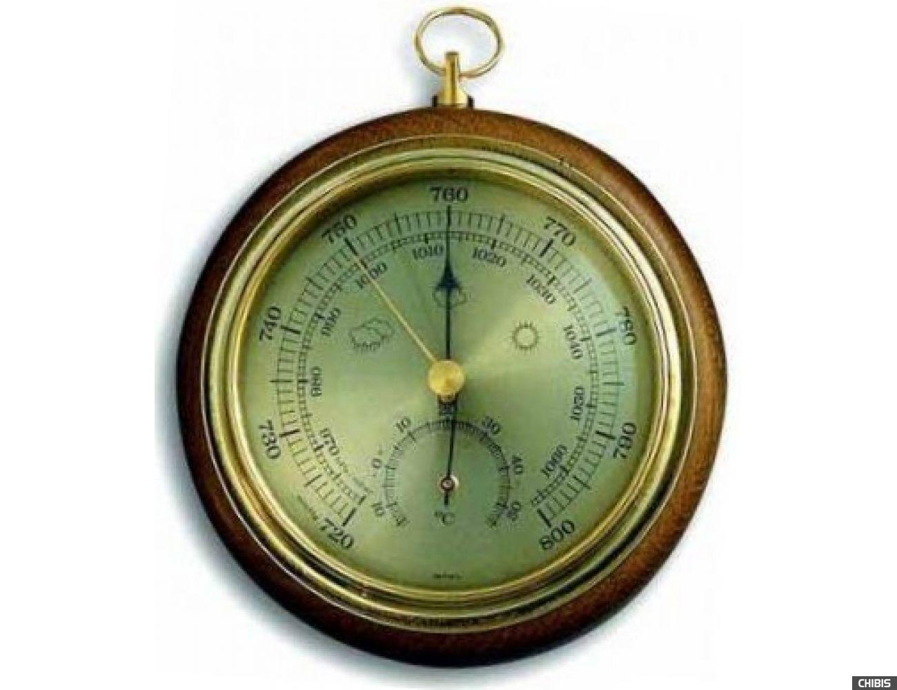 Барометр TFA (45100001B) с термометром, дуб