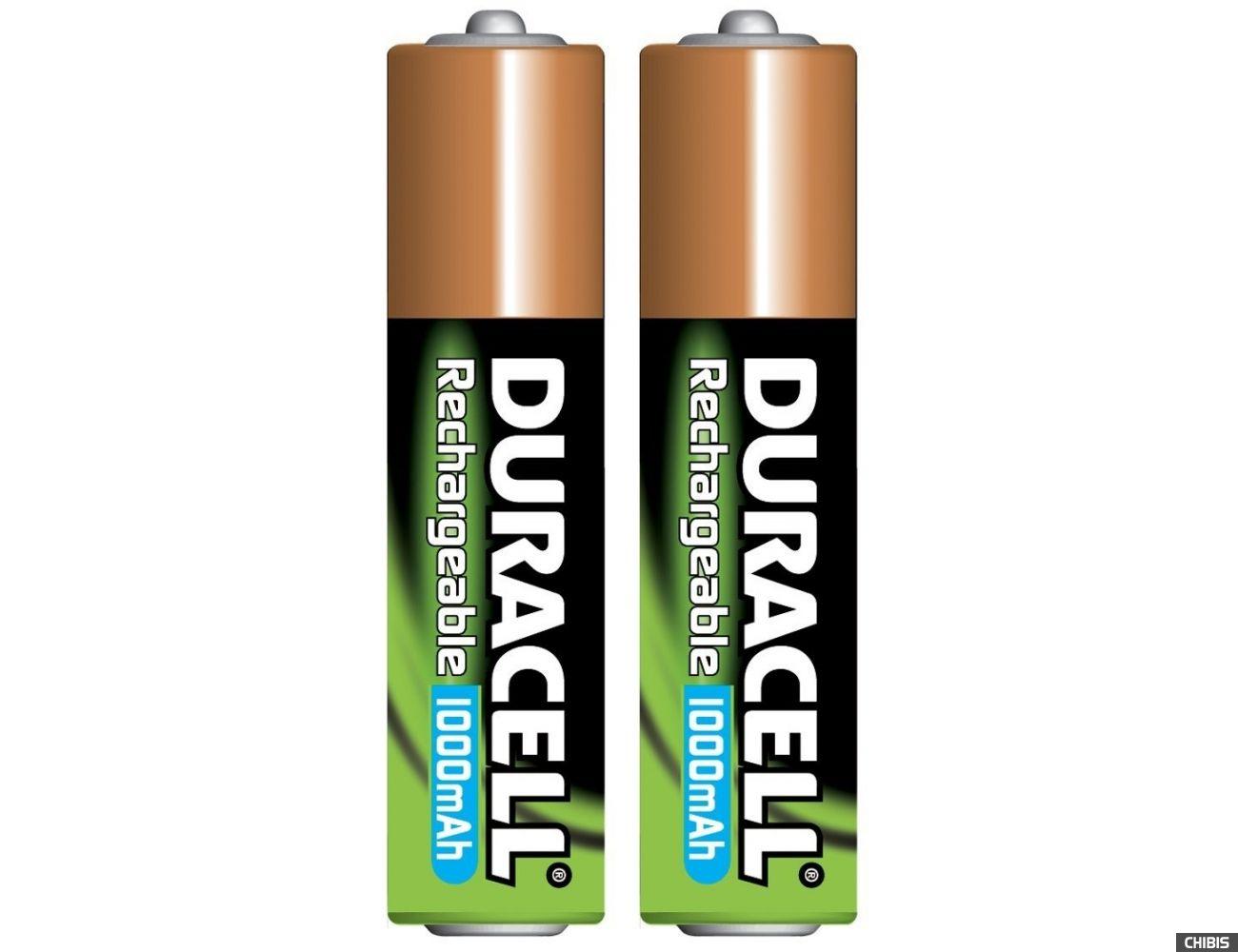 Аккумуляторные батарейки ААА Duracell 1000 mAh (HR03, Ni-Mh, 1.2V) 2/2 шт. 5000394099678