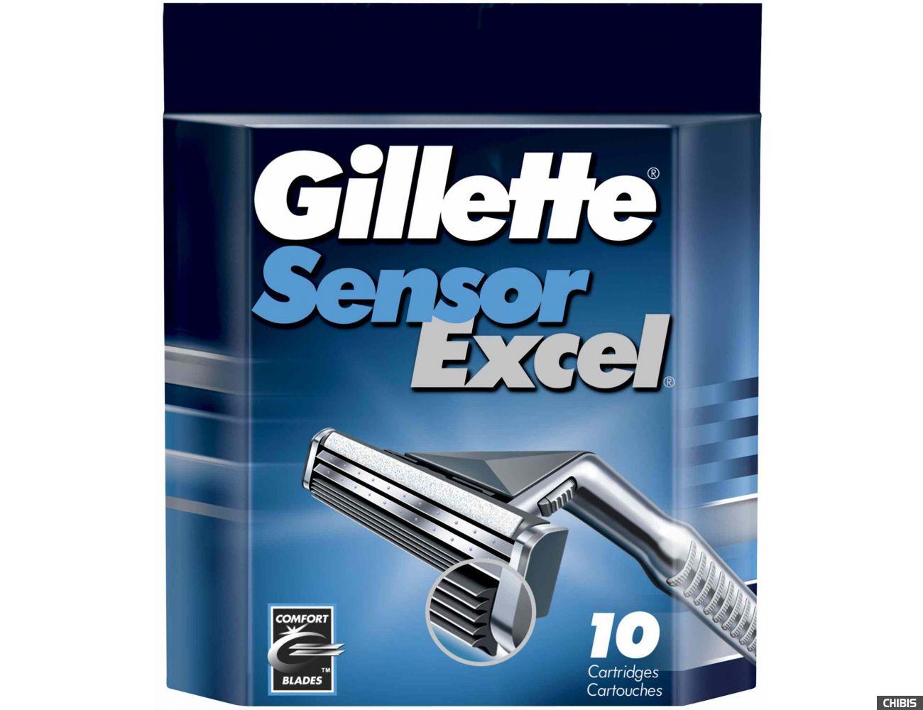 Gillette лезвия Sensor Excel 10 шт 3014260245832