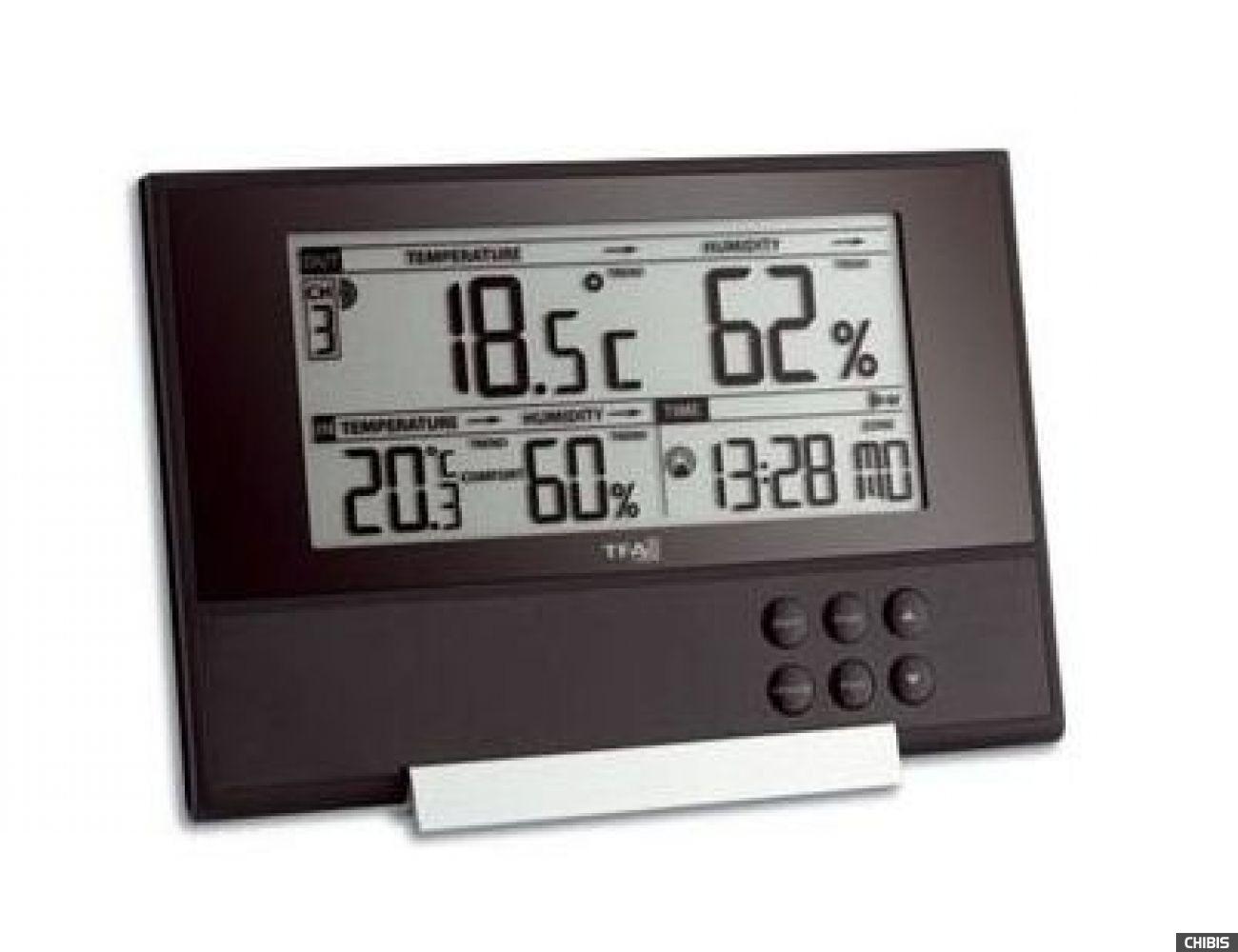 """Термогигрометр TFA """"Pure"""" (303043), 120х178х35 мм"""