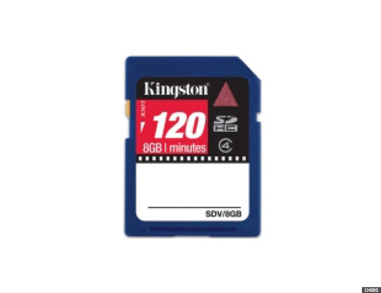 Карта памяти Kingston Secure Digital High-Capacity (SDHC) Class 4 8Gb Video