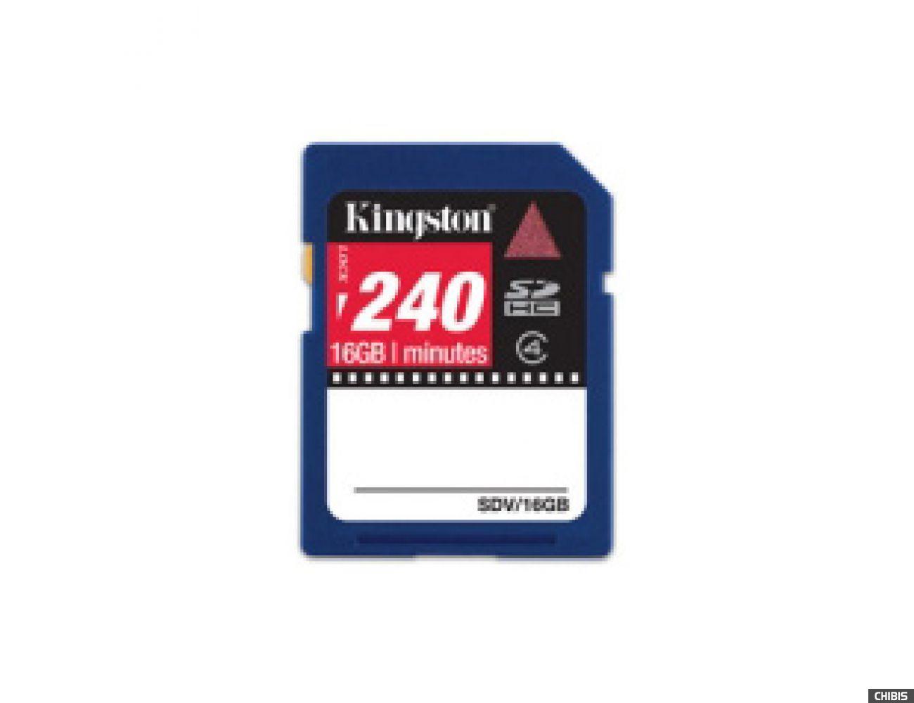Карта памяти Kingston Secure Digital High-Capacity (SDHC) class 4 16Gb Video