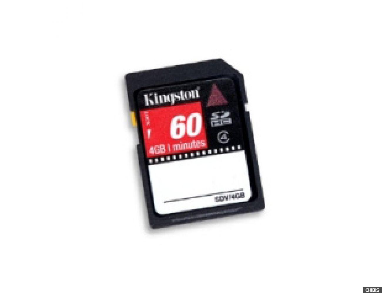 Карта памяти Kingston Secure Digital High-Capacity (SDHC) class 4 4Gb Video