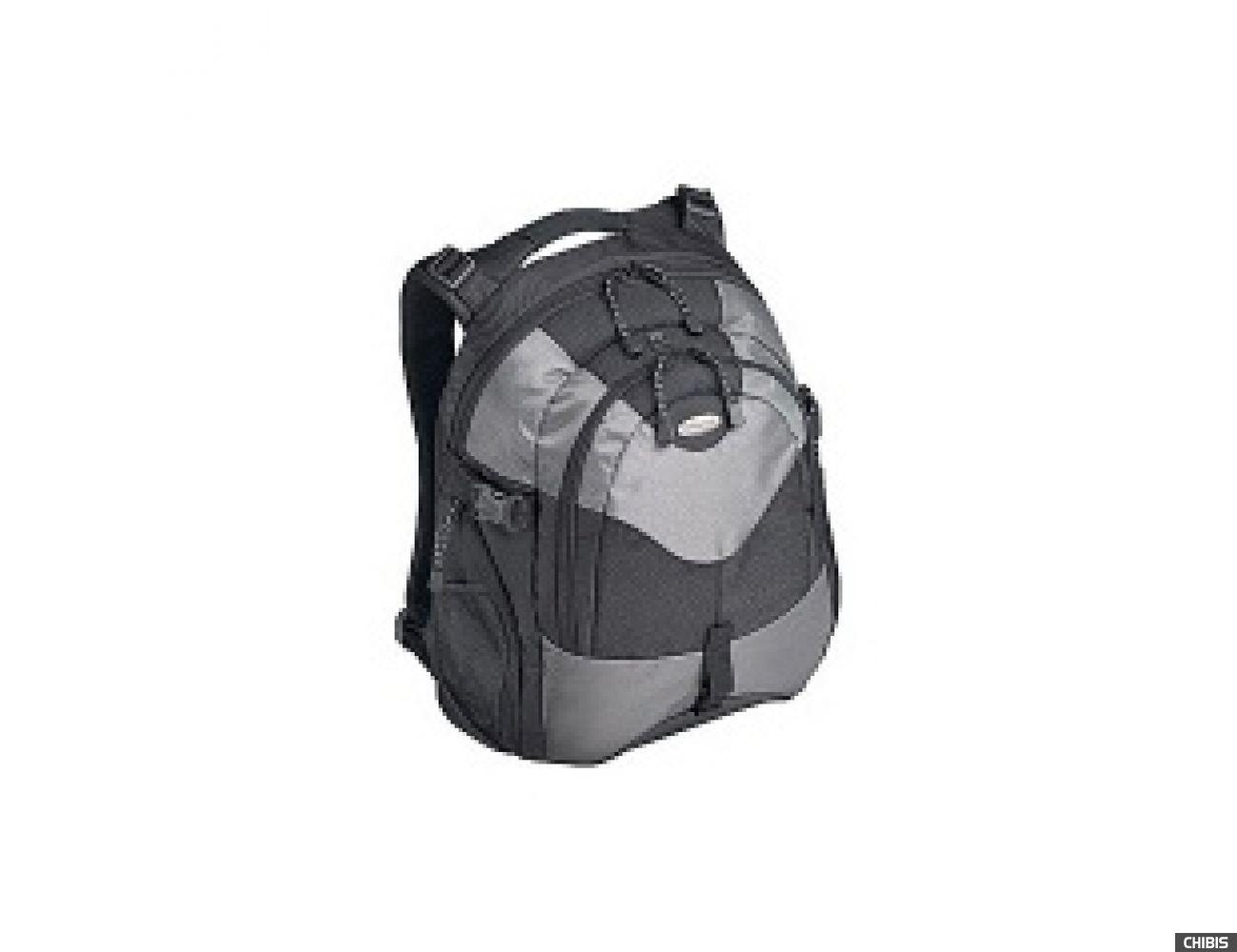 """Рюкзак для ноутбука TARGUS 15.4"""" чёрно-серебр. нейлон (TEB02)"""