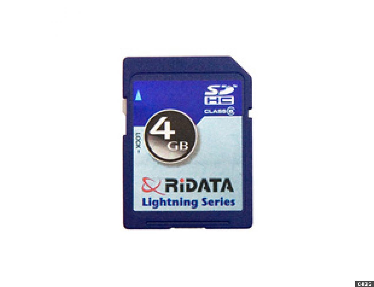 Карта памяти RIDATA SDHC 4Gb (Class 6)