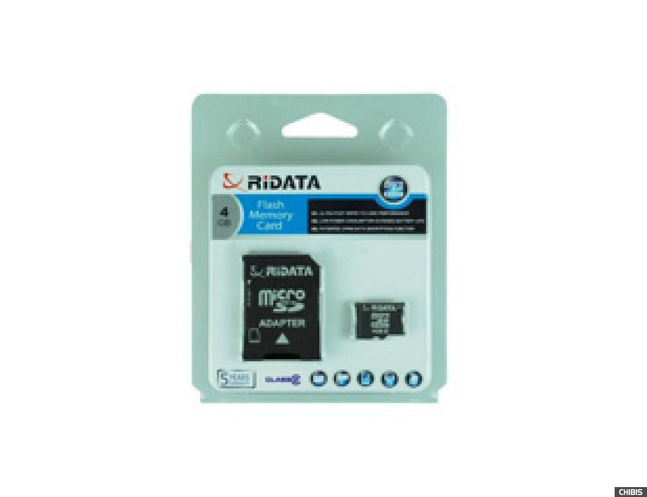 Карта памяти RIDATA MicroSDHC 4Gb (CLASS 2) SD adapter