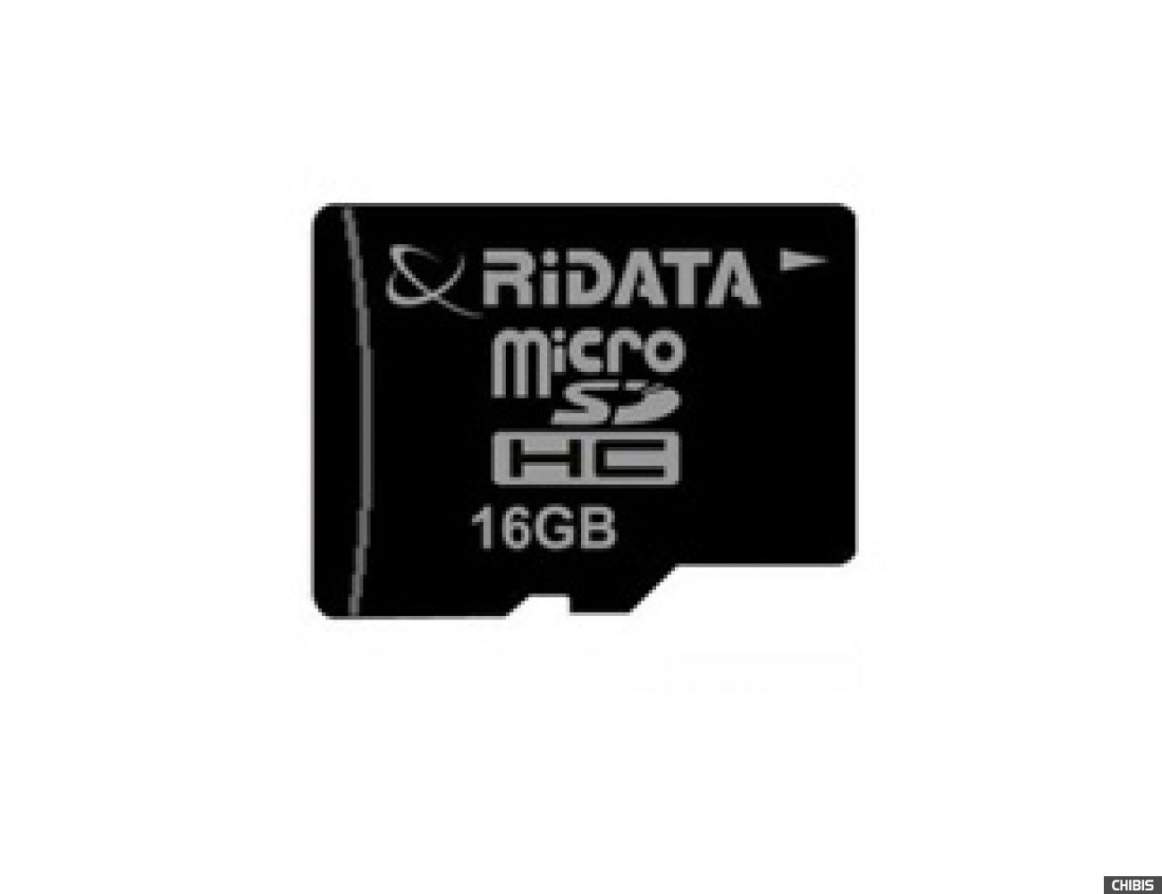 Карта памяти RIDATA MicroSDHC 16Gb (CLASS 2) SD adapter