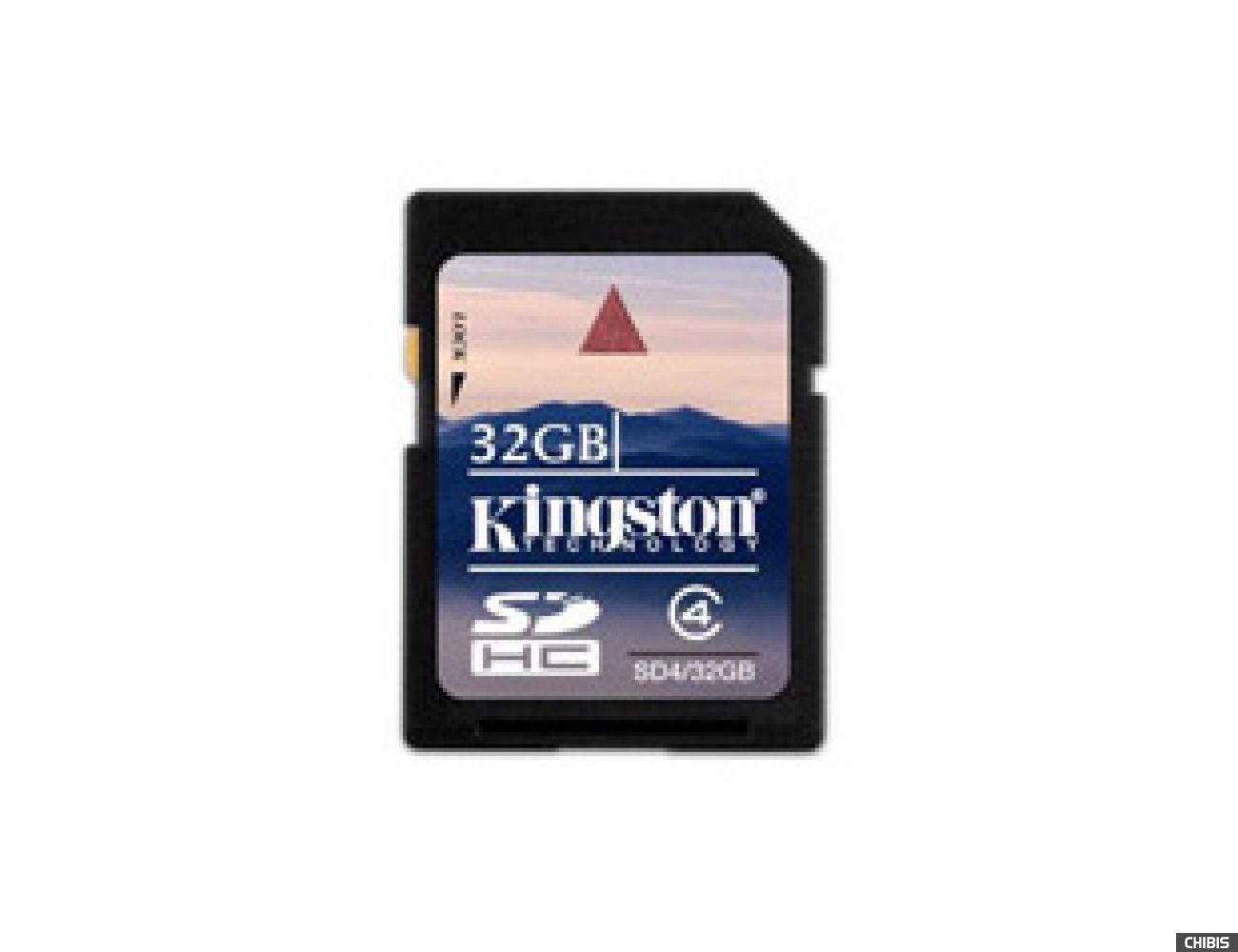 Карта памяти Kingston SDHC 32 GB Class 4