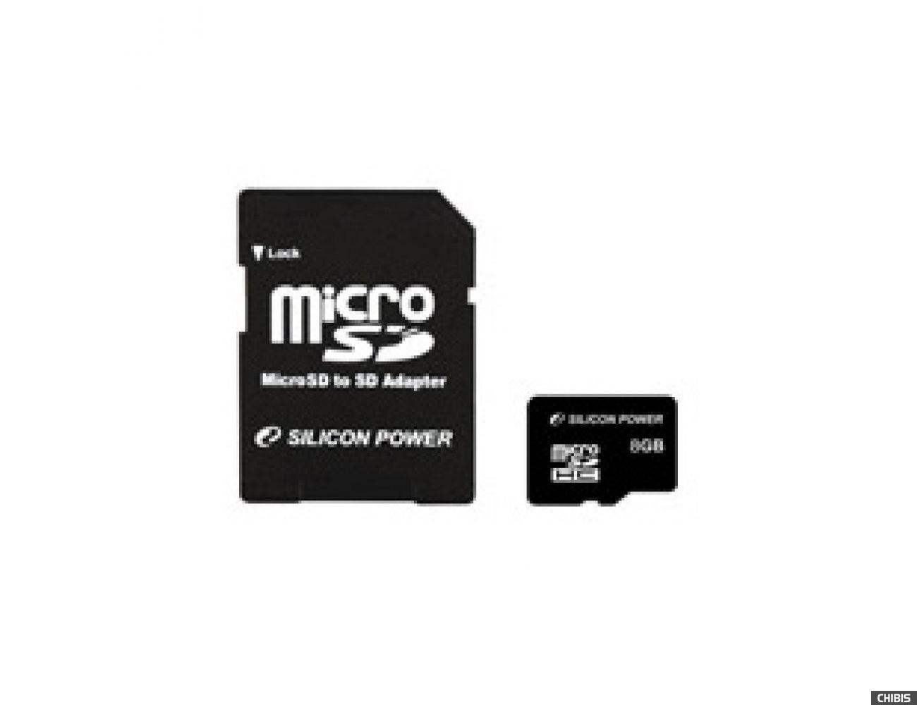 Карта памяти SILICON POWER MicroSDHC 8 GB card Class 4 no adapter