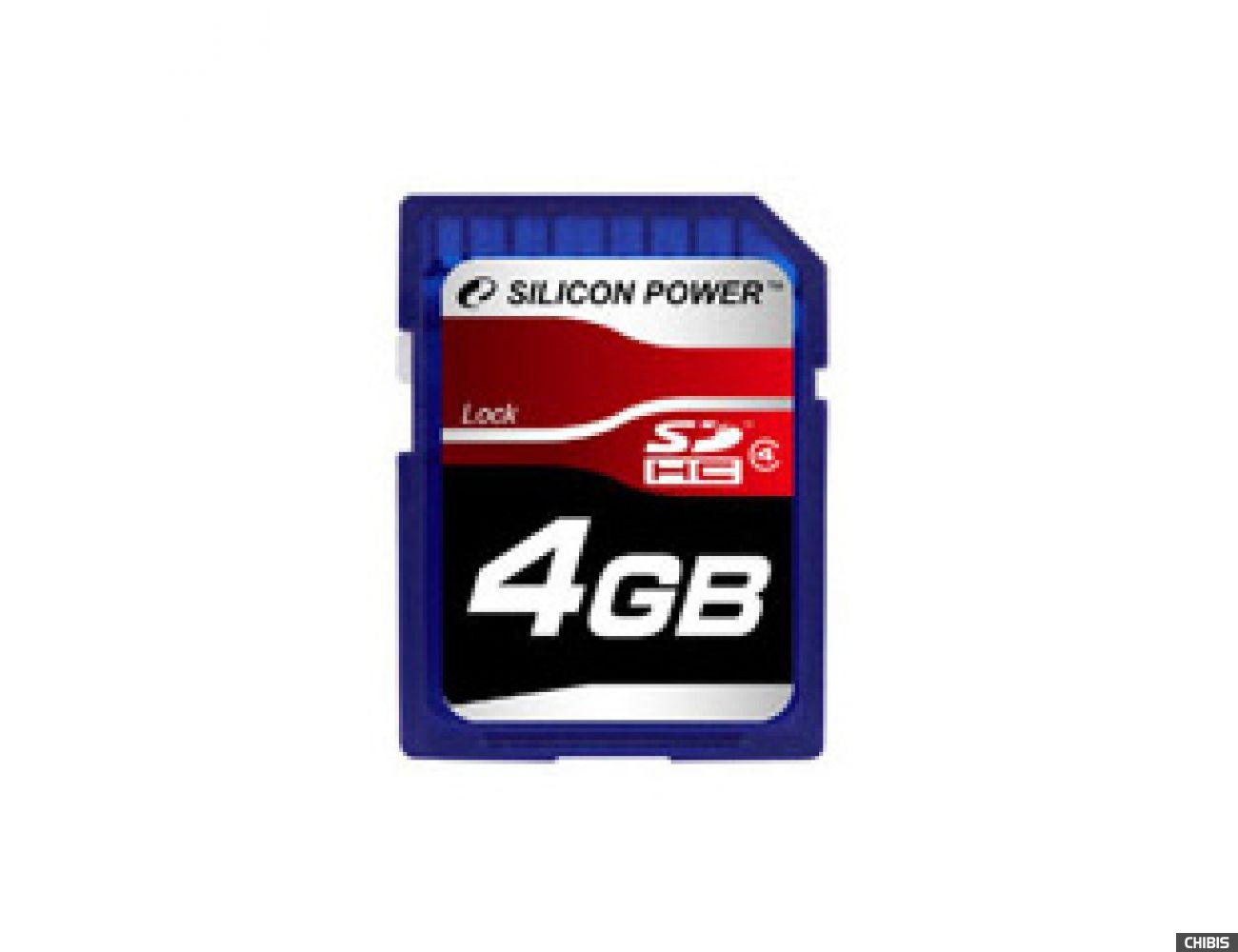Карта памяти SILICON POWER SDHC 4GB Class 4