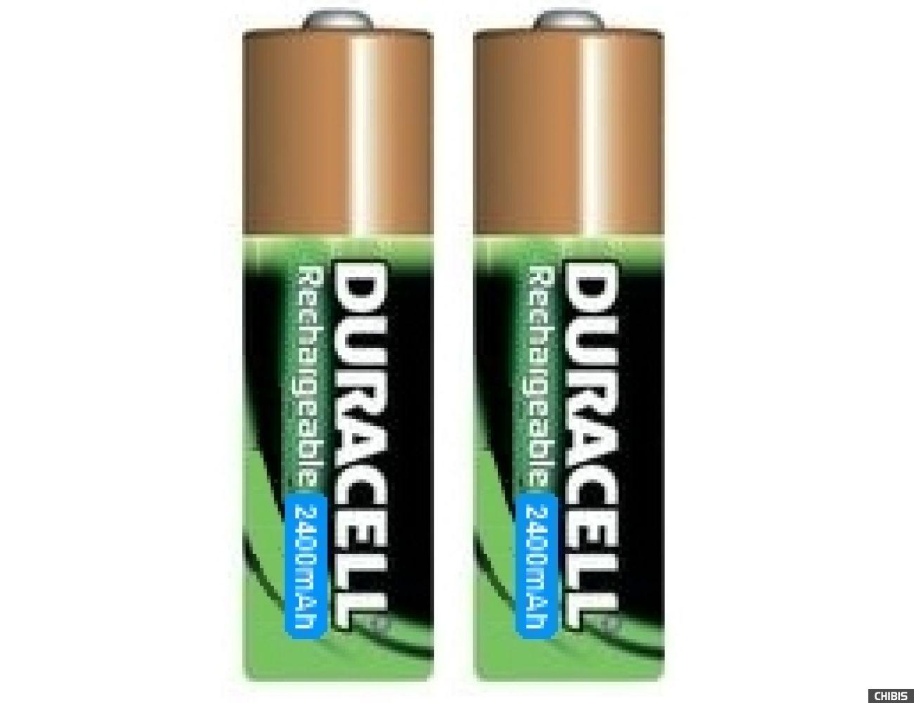 Аккумуляторные батарейки АА Duracell 2400 mAh (HR6, Ni-Mh, 1.2V) 2/2 шт. 5000394203631