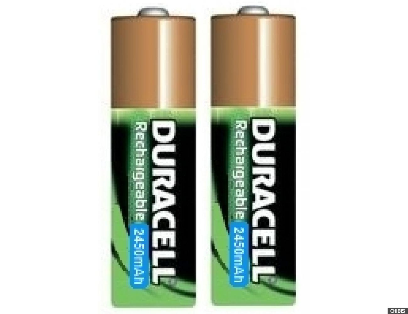 Аккумуляторные батарейки АА Duracell 2450 mAh (HR6, Ni-Mh, 1.2V) 2/2 шт. 5000394203631