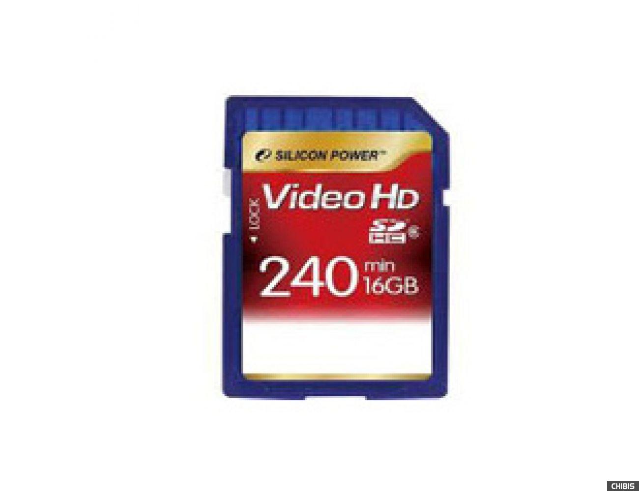 Карта памяти SILICON POWER SDHC 16GB Class 6 Full HD Video