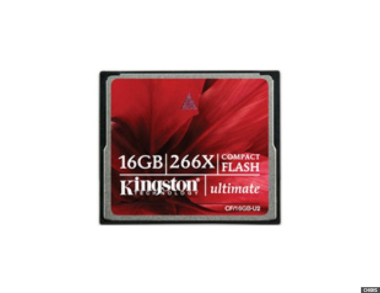 Карта памяти Kingston Compact Flash 16GB (266x)
