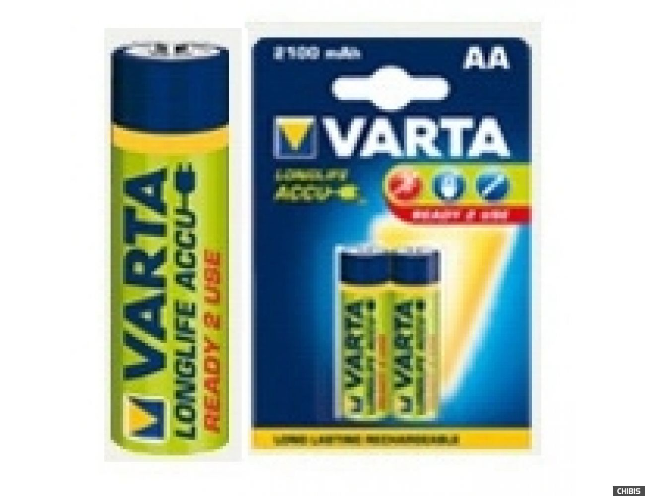Аккумуляторные батарейки АА Varta 2100 mAh LongLife R2U HR6 Ni-MH 56706