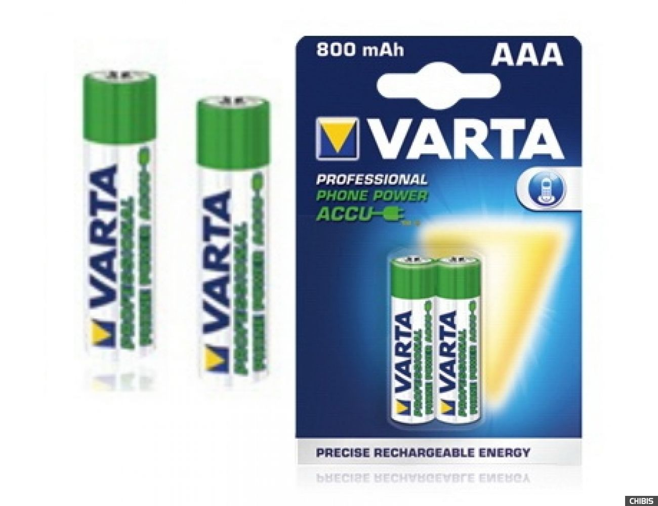 Аккумуляторные батарейки ААА Varta 800 mAh Professional Phone Power (HR03, 800 mAh, 1.2V, Ni-Mh)  58398101402