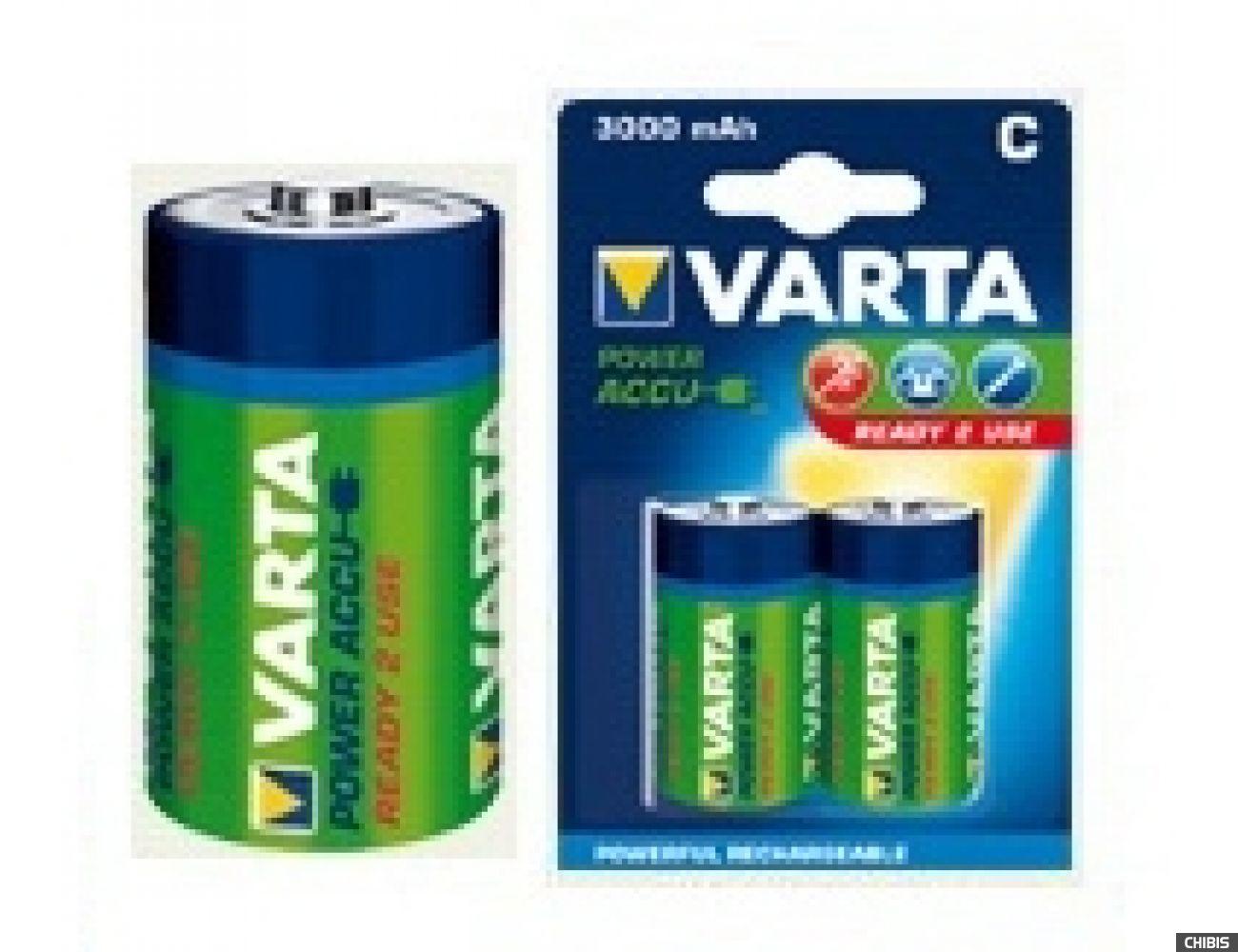Аккумуляторные батарейки С Varta 3000 mAh Power R2U HR14, 3000mAh, 1.2V, Ni-Mh 1/2 шт. 56714101402