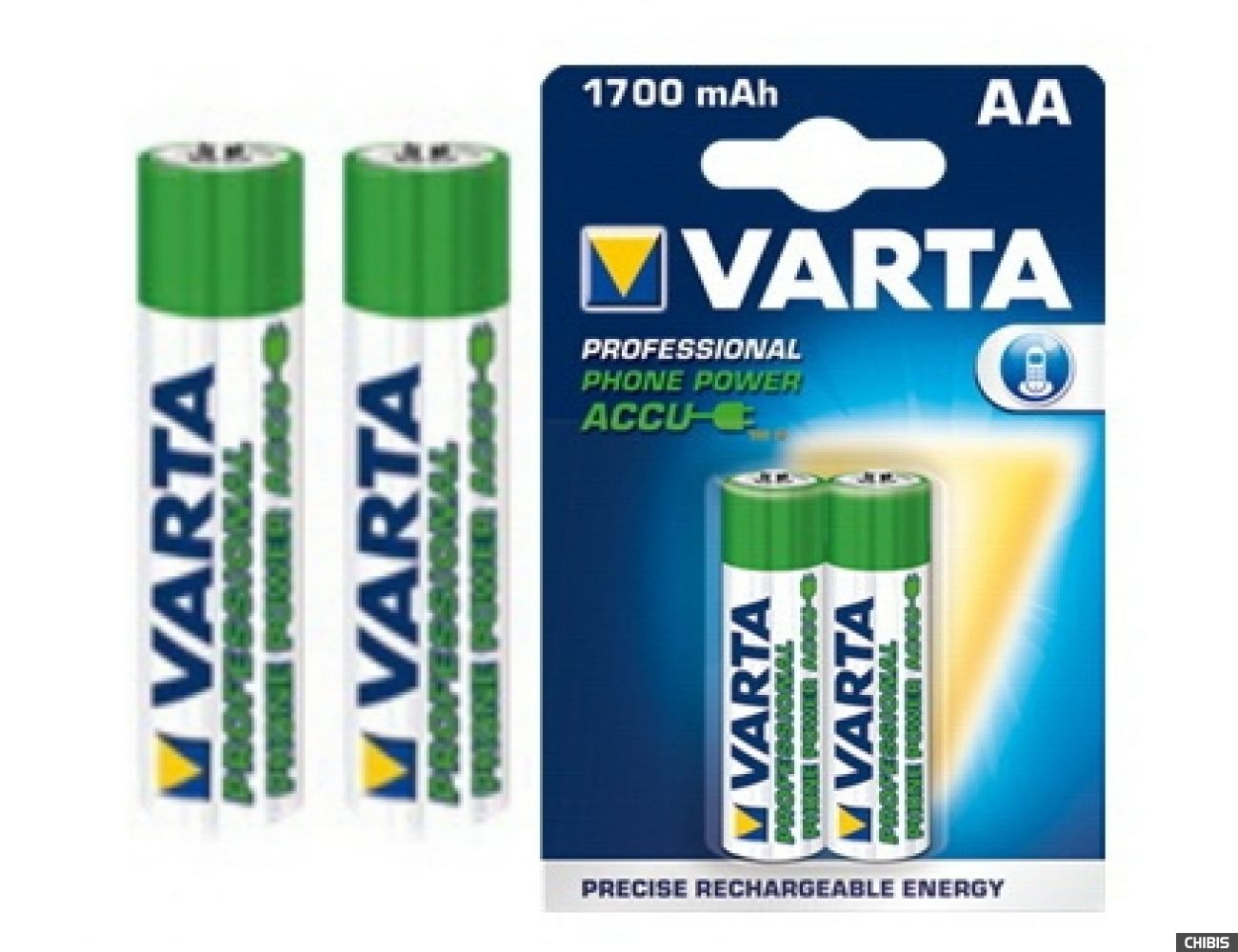 Аккумуляторные батарейки АА Varta 1700 mAh Professional Phone Power (HR6, 1700mAh, 1.2V, Ni-Mh) 58399201402