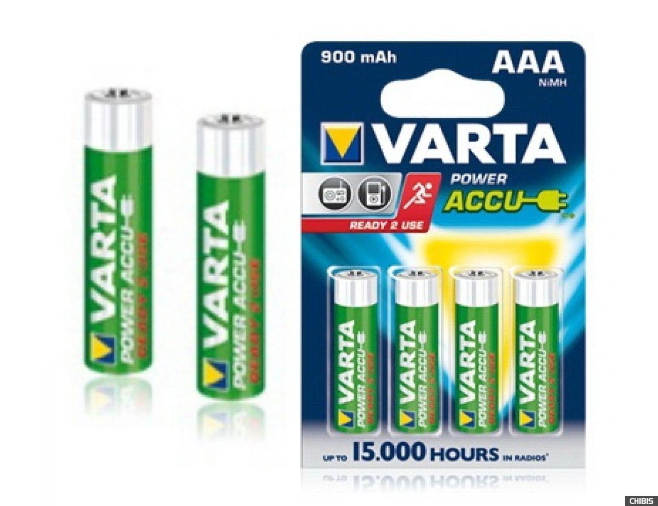 Аккумулятор ААА Varta 900mAh Power R2U HR03 56713101402