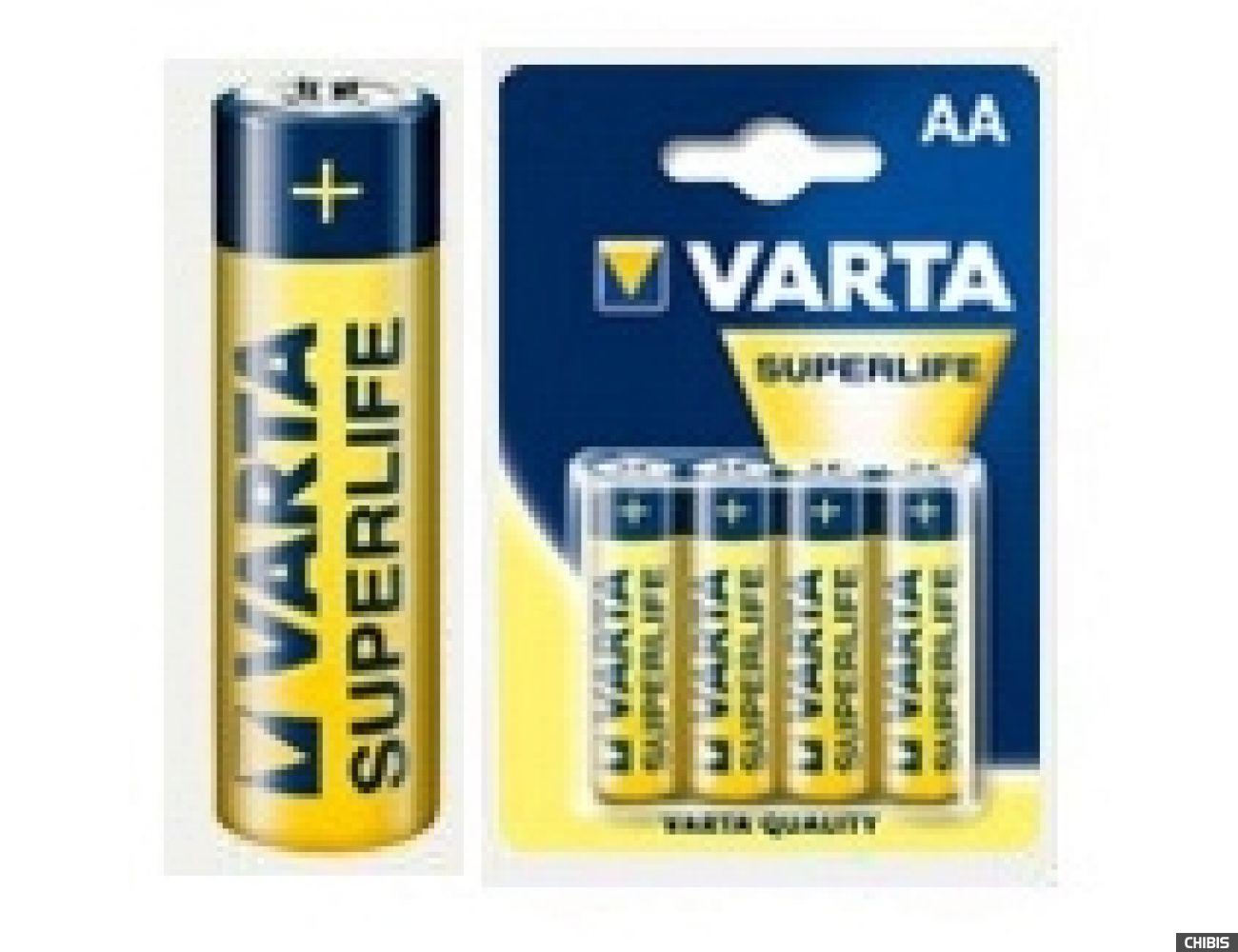 Батарейка Varta AA Superlife (LR06, 1.5V, Цинково-угольная)