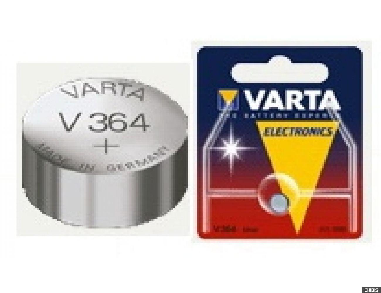 Батарейка Varta V364 (SR60, 20mAh, 1.55V, Оксид Серебра) 003641011111