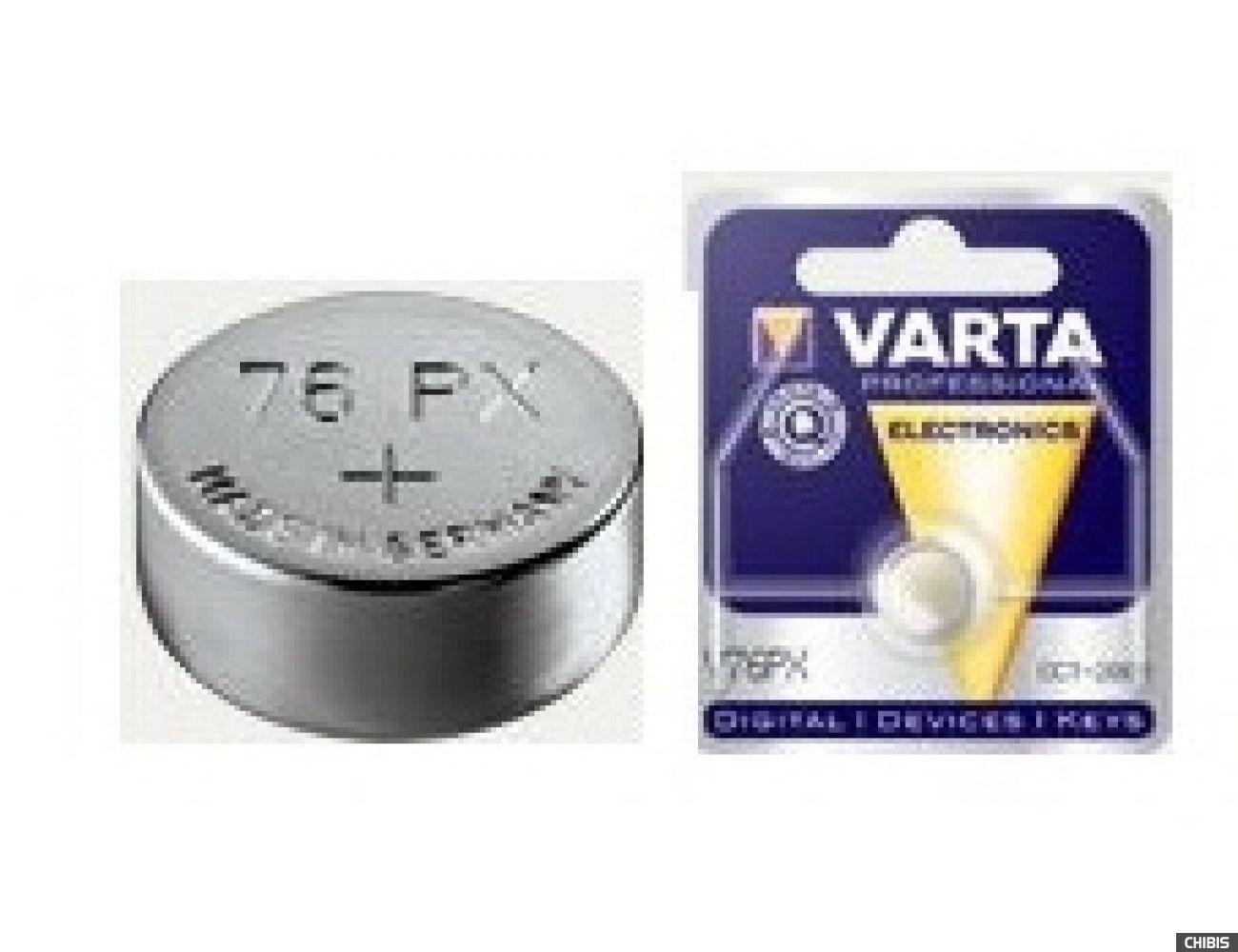 Батарейка Varta V76PX Professional Electronics (SR44, 145mAh, 1.55V, Оксид Серебра) 04075101401