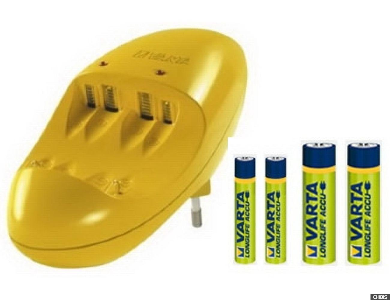 Зарядное устройство Varta Easy Energy Pocket Charger + 2/2 - 2500AA, 1000AAA (57062101461)