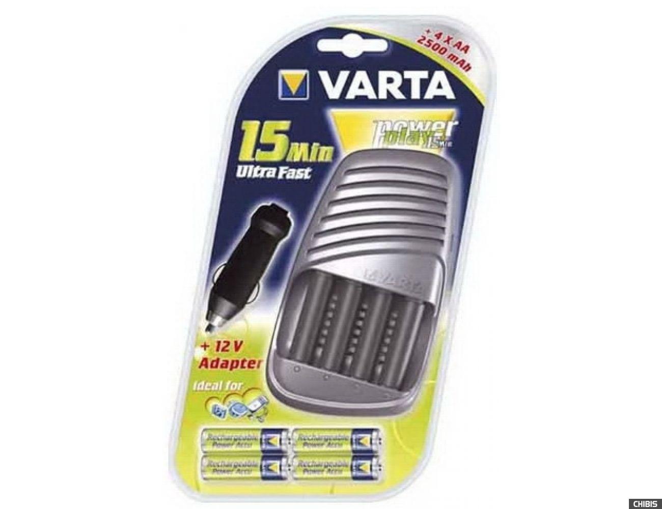 Зарядное устройство Varta Power Play 15 Min Ultra Fast + 4 - 2500AA + авто адаптер (57075201441)