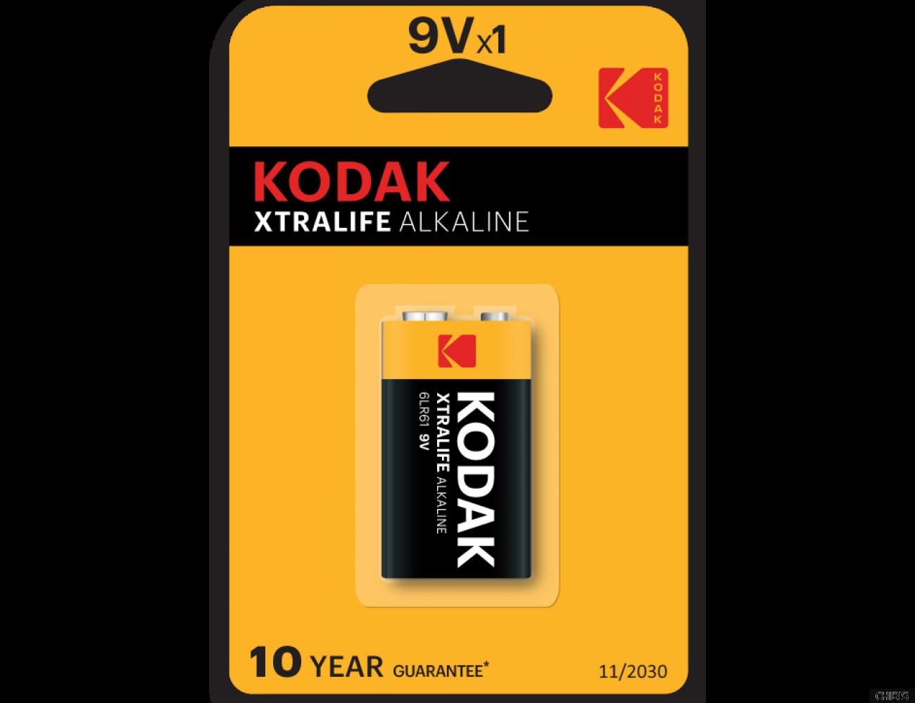 Батарейка Kodak 9V Крона XtraLife alkaline 6LR61 1шт.