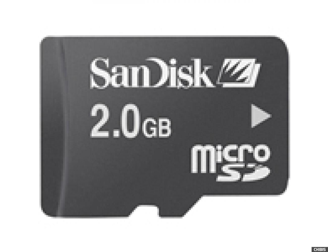 Карта памяти SanDisk MicroSD 2Gb +SD адаптер