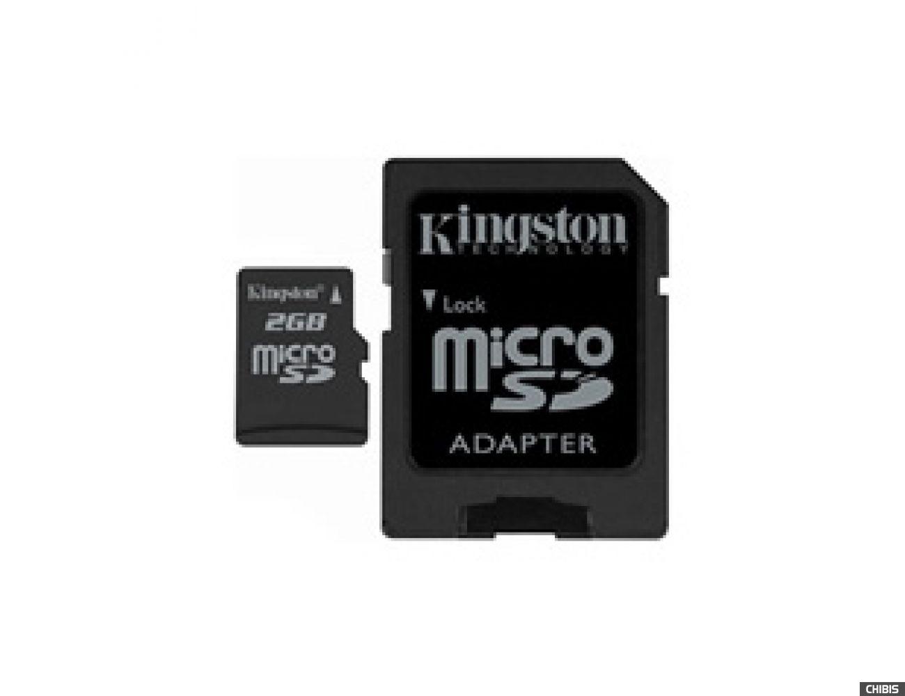 Карта памяти Kingston MicroSD 2Gb +SD адаптер