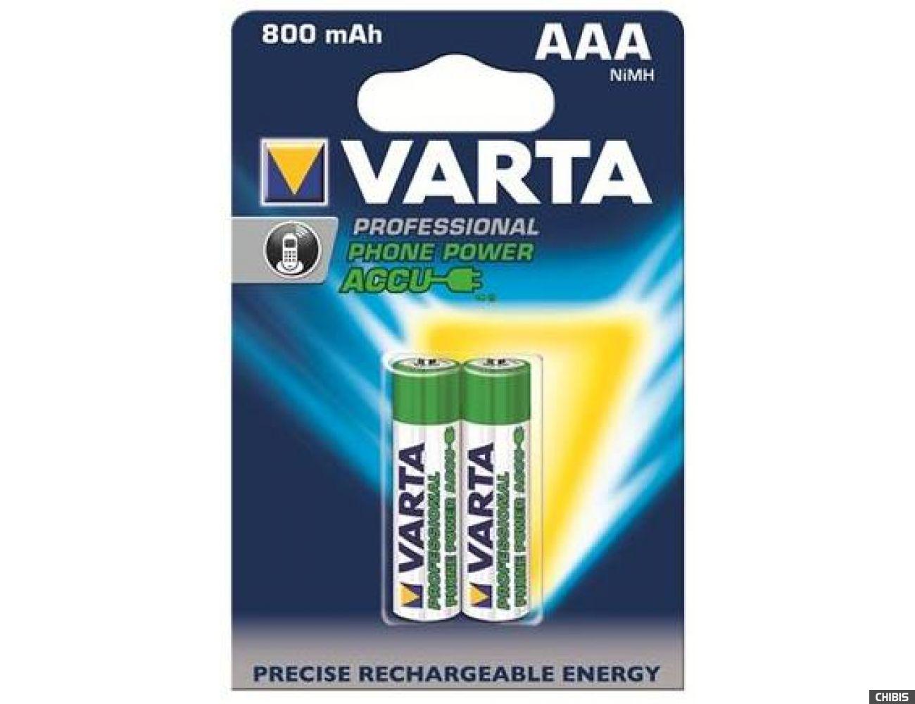 Аккумуляторные батарейки ААА Varta 800 mAh Professional Phone Power 2/2 58398101402