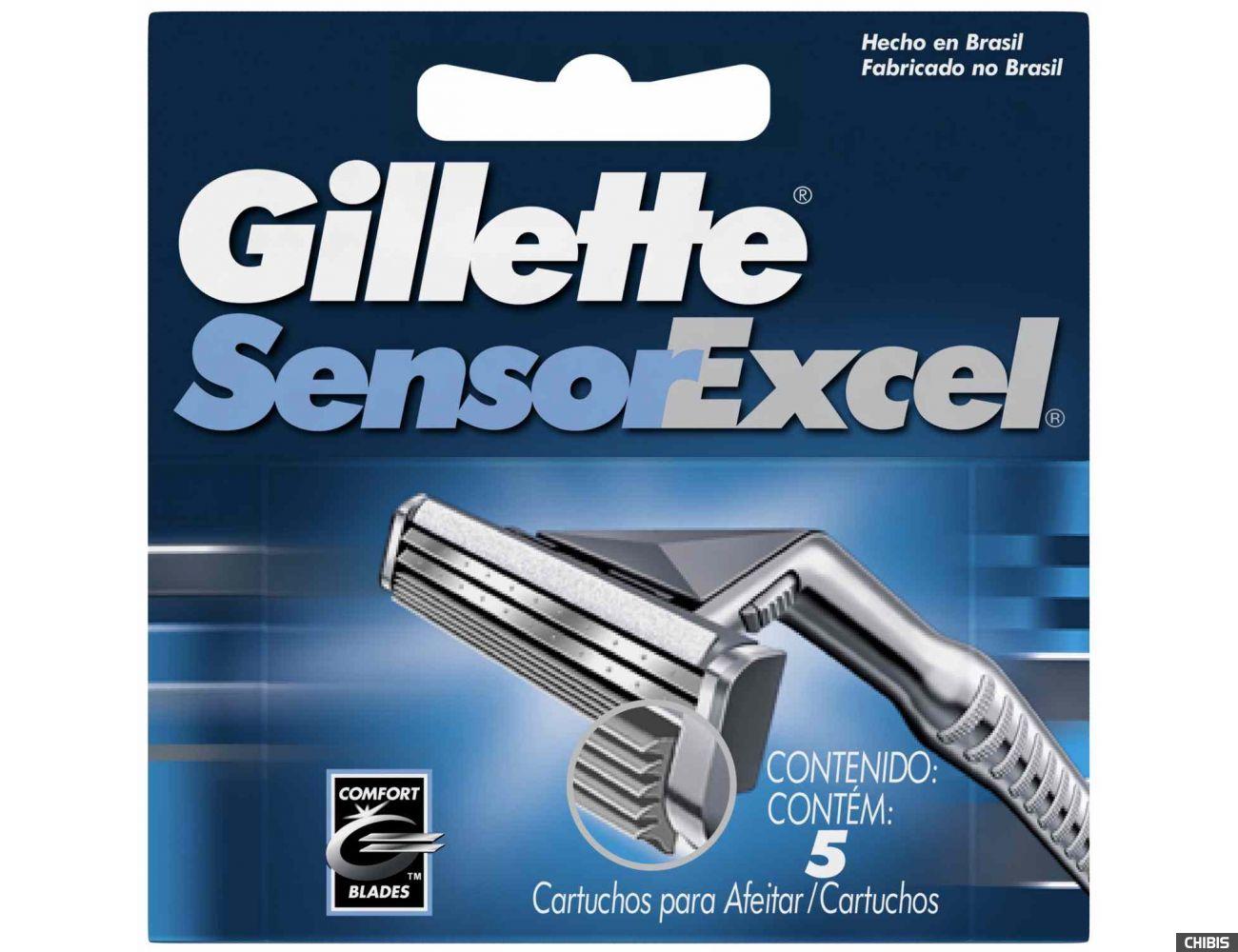 Gillette лезвия Sensor Excel 5 шт 3014260244873