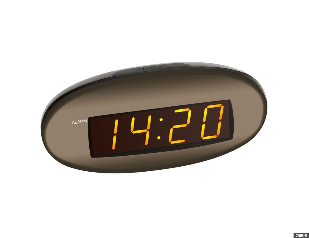 Настольные часы TFA (602005) оранжевая индикация, 70x150x65мм