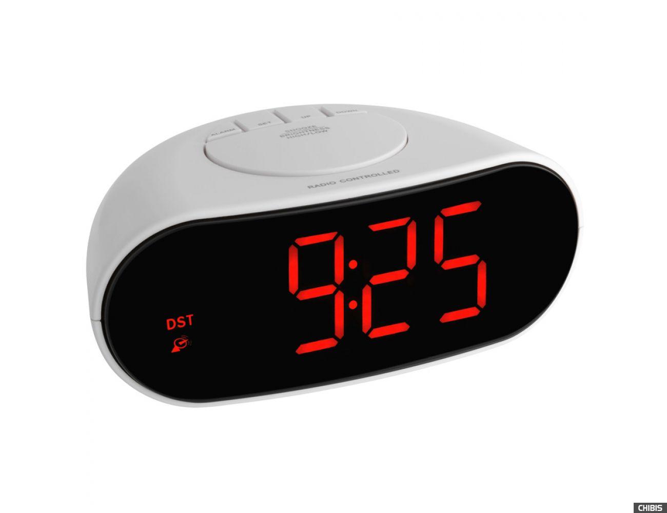 Настольные часы TFA (602505) красная индикация, 78x170x110мм