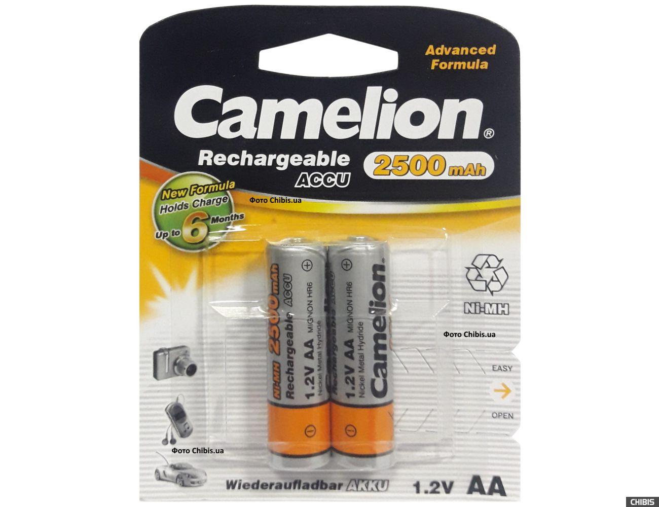 Аккумуляторы AA 2500 mAh Camelion Ni-MH 1/2 шт