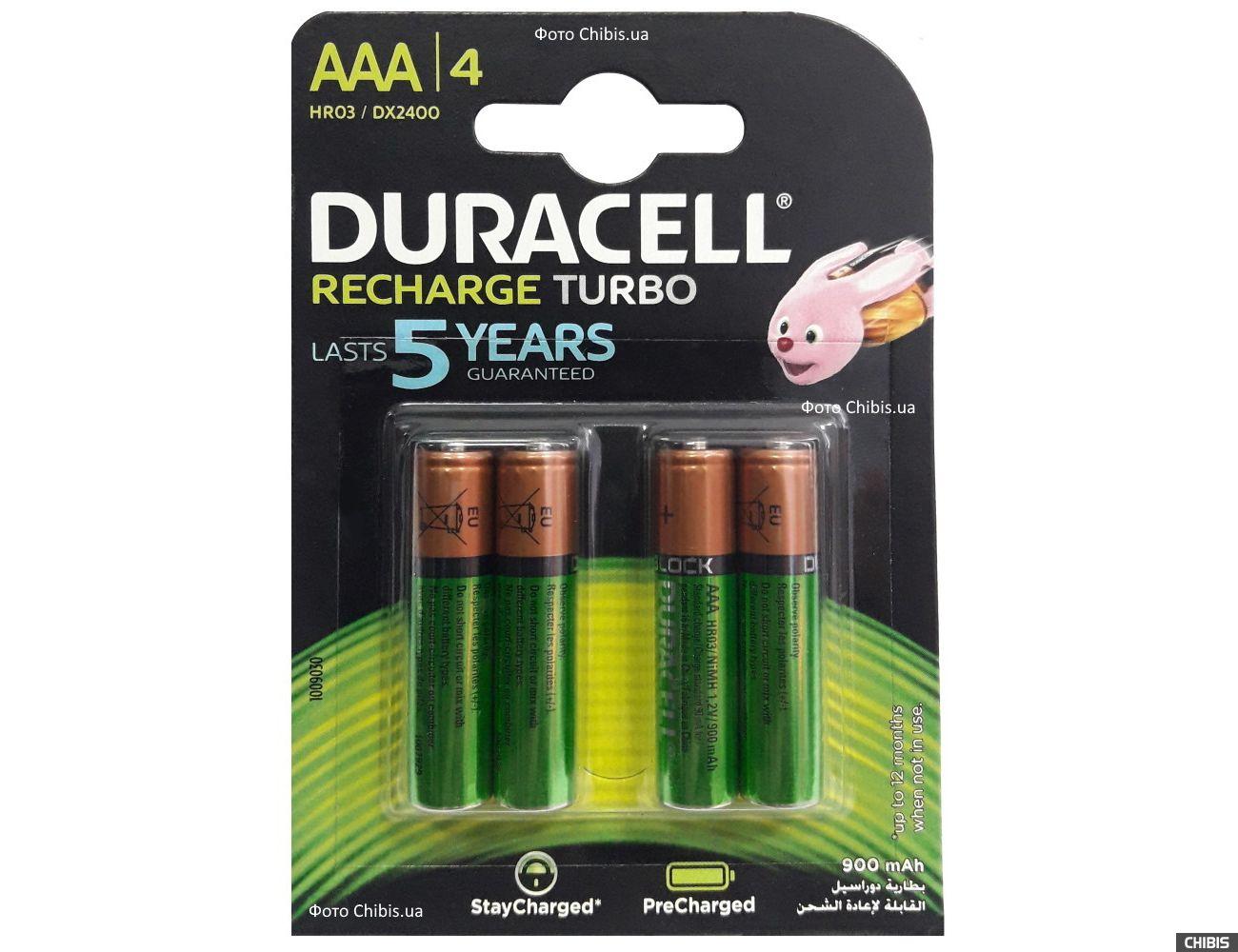 Аккумуляторы Дюрасел ААА 900 mAh HR03, Ni-Mh, 1.2V 4 шт.