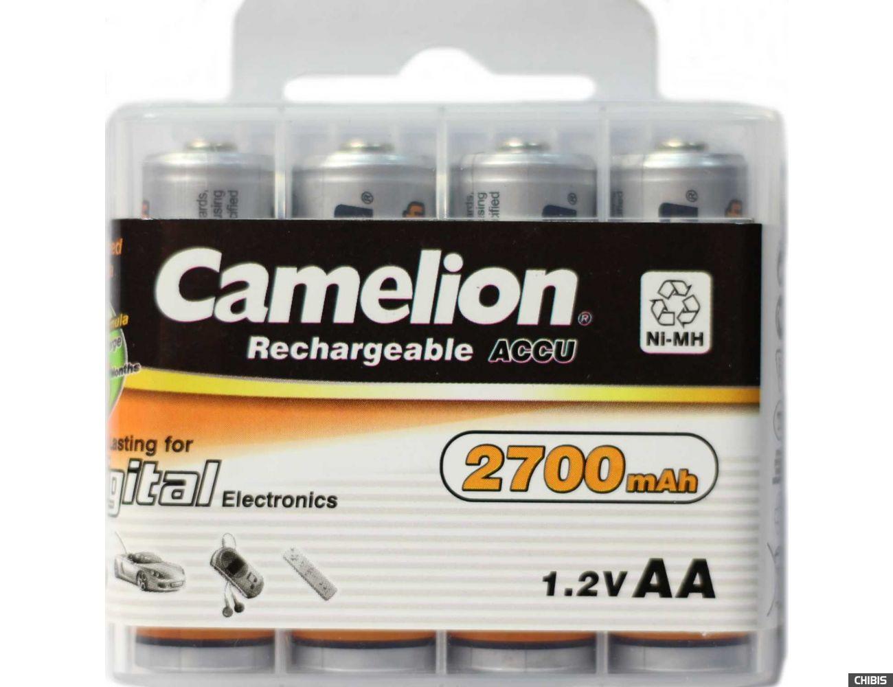 Аккумулятор АА Camelion 2700 mAh Ni-MH 1/4 пластиковый бокс
