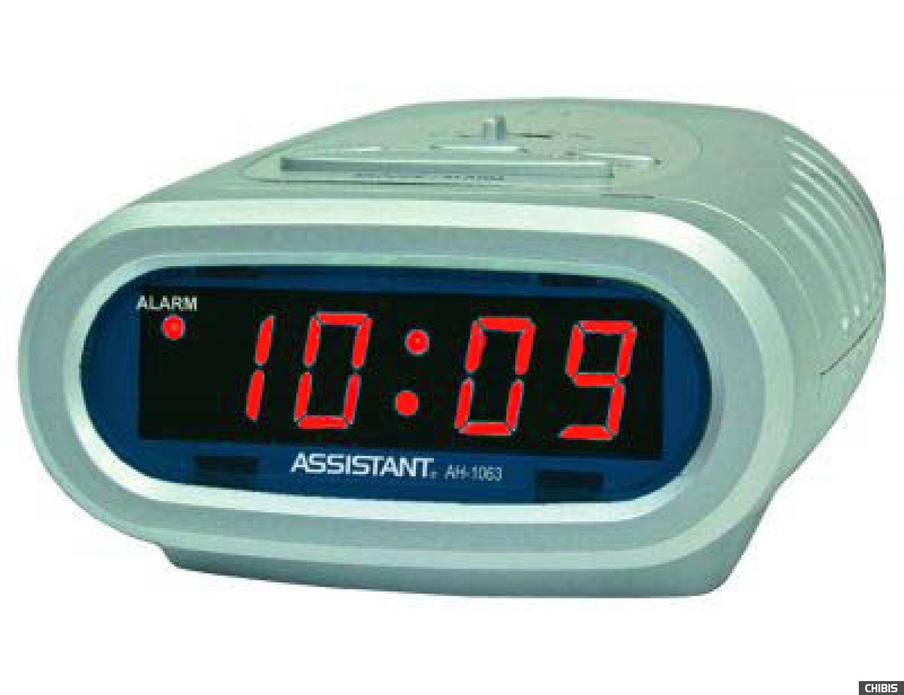 Настольные часы Assistant AH-1063 red