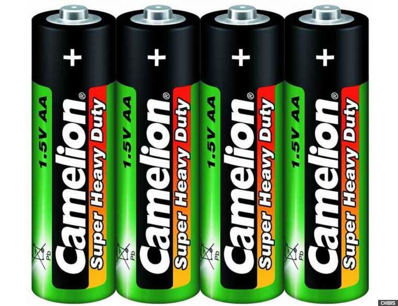 Батарейка Camelion AA Марганцево-цинковая пленка 1/4 шт.