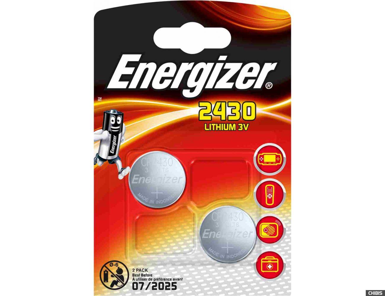 Батарейка CR2430 Energizer Lithium 1/2 шт.