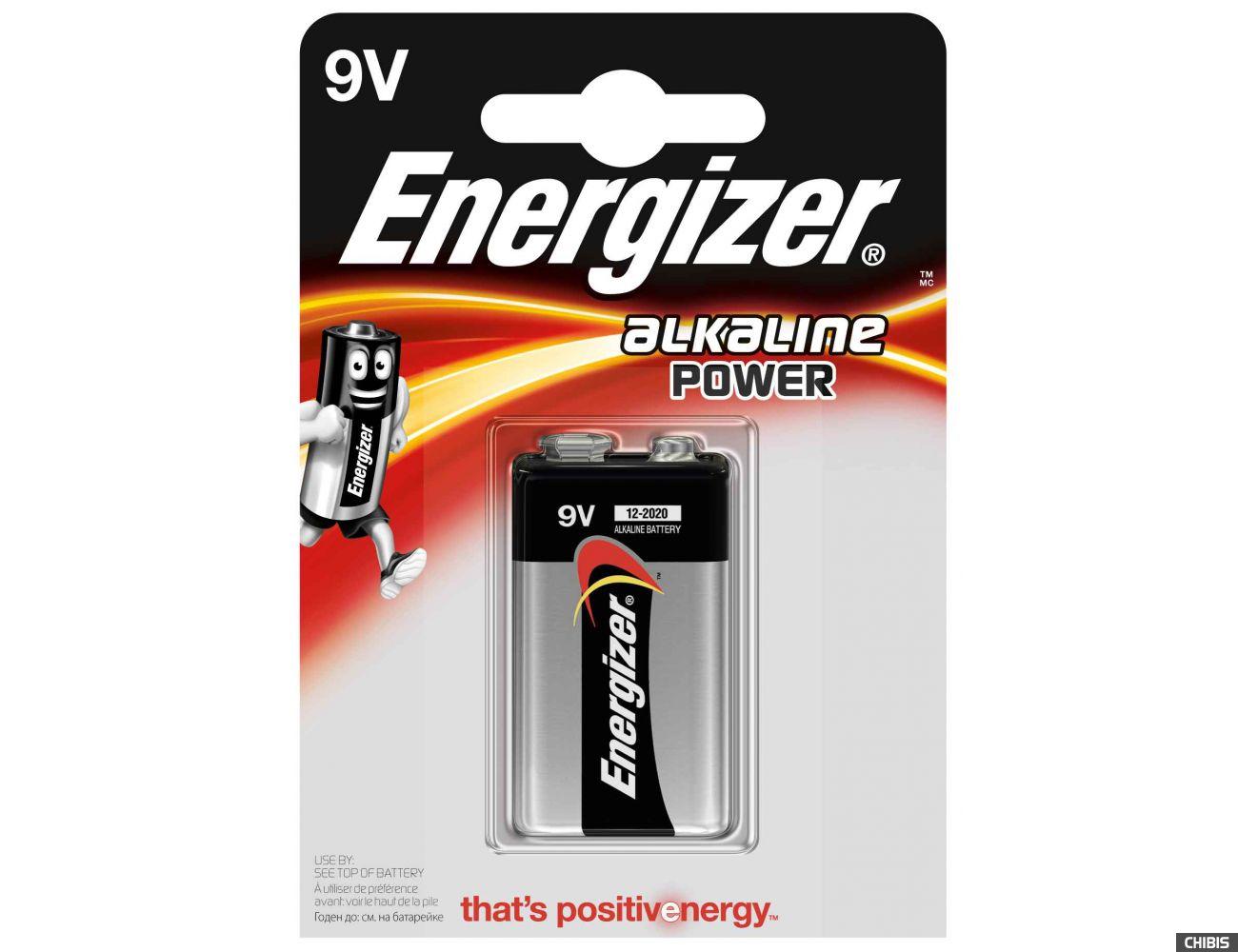 Батарейка Energizer 6LR61 9V Alkaline Power