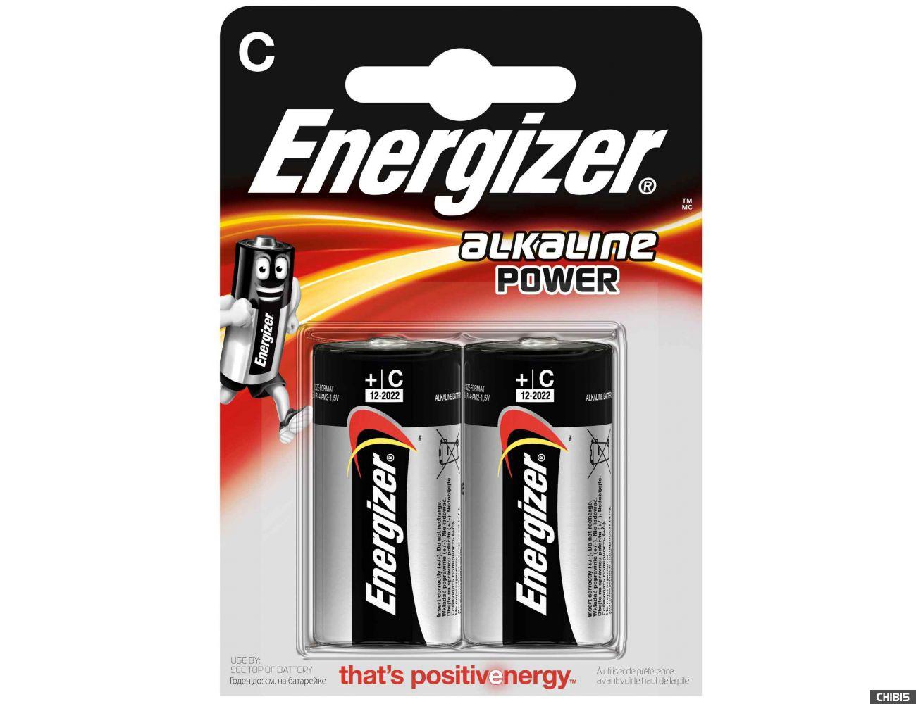 Батарейка C LR14 Energizer Alkaline Power 1.5V 1/2 шт.