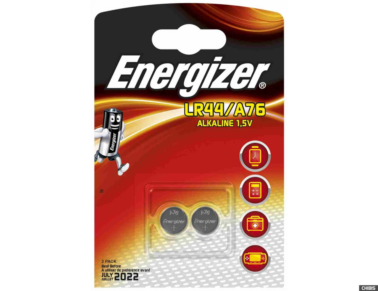 Батарейка LR44/A76 Energizer Alkaline 1/2 шт.