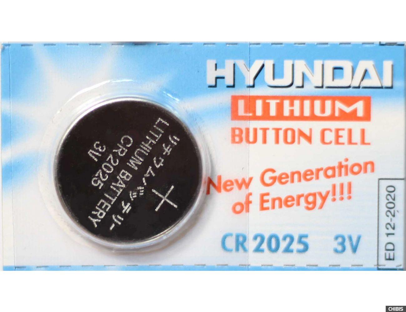 Батарейка Hyundai CR 2025 3V