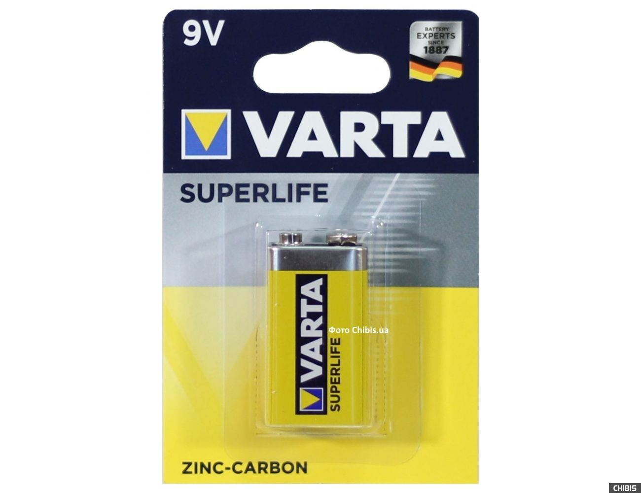Батарейка Крона Varta Superlife 6F22 9V 02022101411