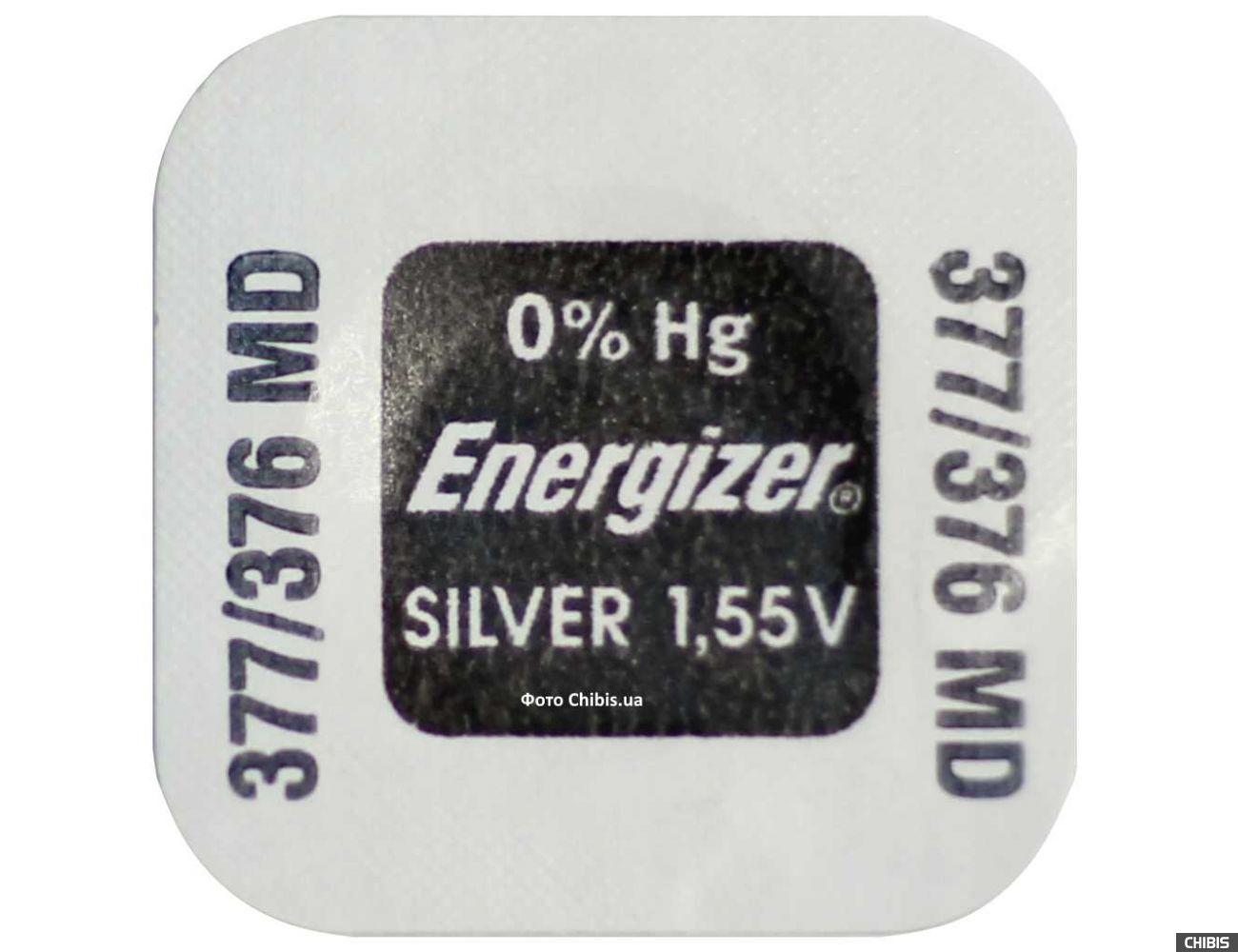Батарейка 377-376 Energizer 1.55V Silver Oxide