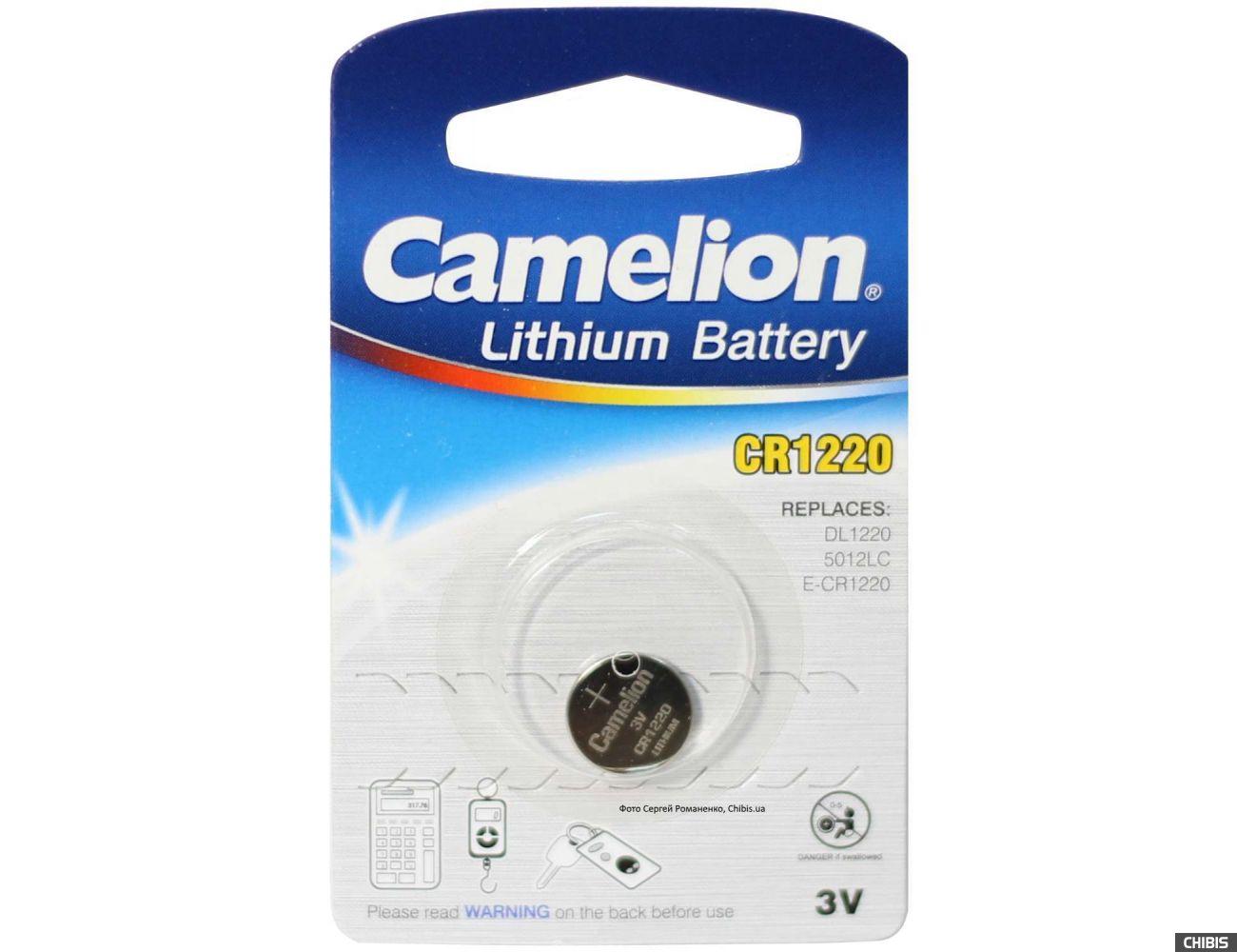 Батарейка Camelion CR 1220 Lithium 1 шт