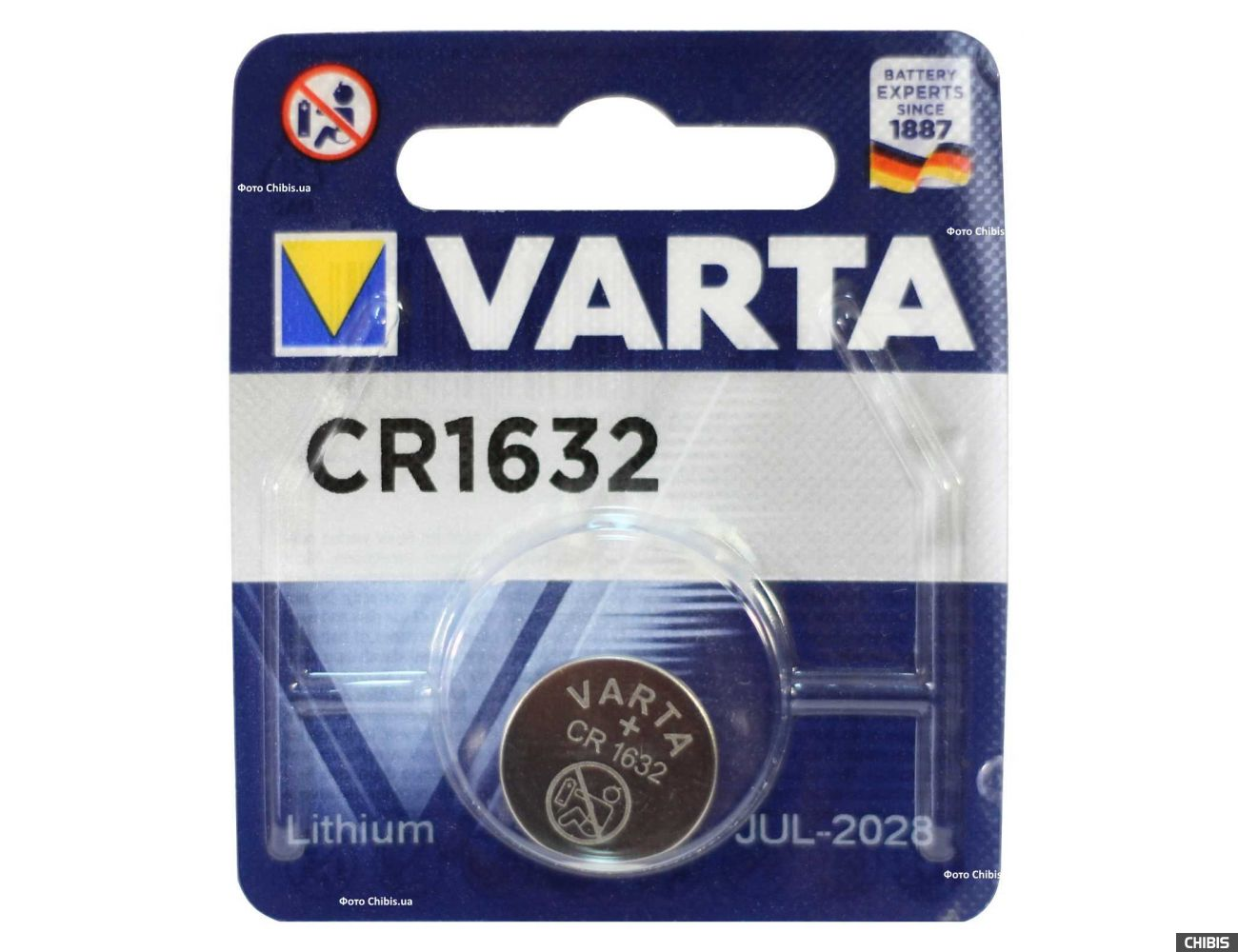 Батарейка CR 1632 Varta Professional Electronics (140mAh, 3V, Литиевая) 06632101401